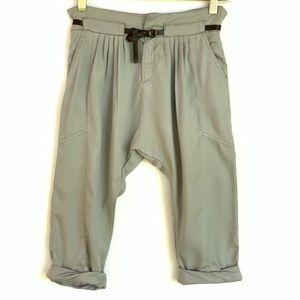 Zara dropped crotch pleated crop pants
